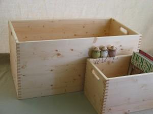 組手が美しい木製の箱 オーダーサイズ