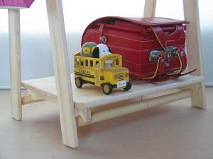 木製ハンガーラックの使用例拡大写真