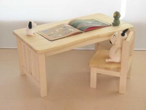 角が無くて安心な小さい木の机 Mサイズ