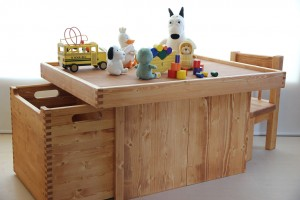 木製プレイテーブルの作品例集