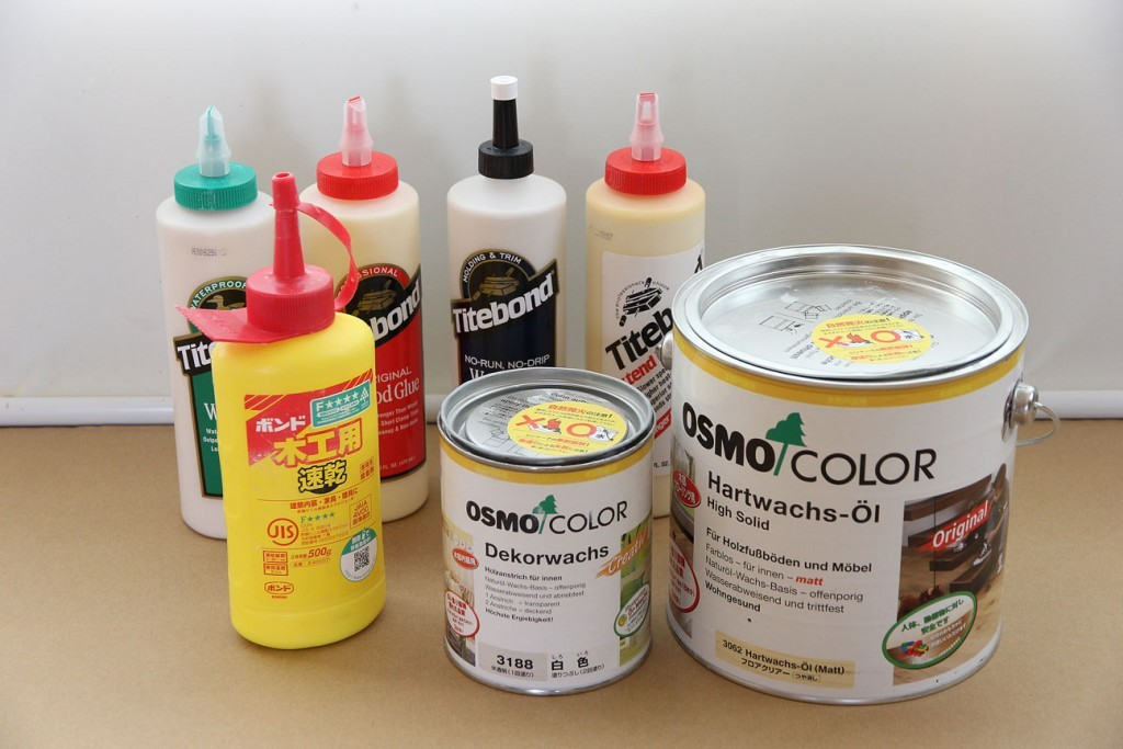 OSMOカラーやタイトボンドなどの健康配慮製品を使用しています