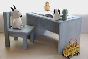 組手が美しい木製ローテーブルの作品例