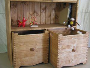 おもちゃ箱付き絵本棚10 おもちゃ箱の拡大写真