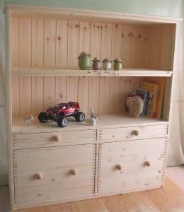 おもちゃ箱付き絵本棚5 全景拡大写真