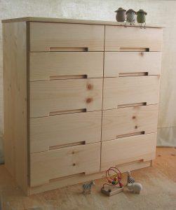 木製キッチンチェスト 全景拡大写真