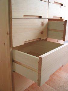 木製キッチンチェスト 引出し部拡大写真