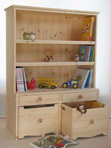 おもちゃ箱付き絵本棚14 全景拡大写真
