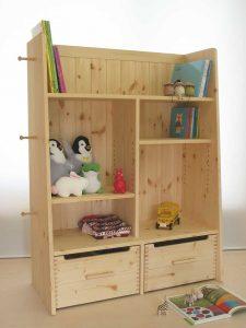 おもちゃ箱付き絵本棚15 引出し収納時の拡大写真