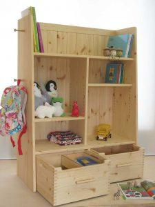 おもちゃ箱付き絵本棚15 引出しオープン時の拡大写真