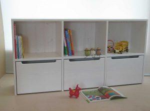 おもちゃ箱付き絵本棚18 クローズ時の拡大写真