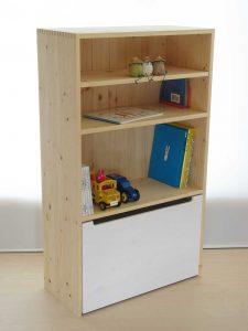 おもちゃ箱付き絵本棚24 クローズ時の拡大写真