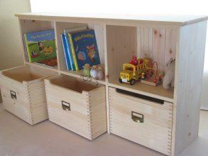 おもちゃ箱付き絵本棚19拡大写真2