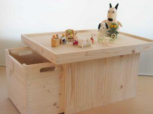 プレイテーブル4 おもちゃ箱側の拡大写真