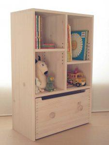 おもちゃ箱付き絵本棚26 クローズ時の拡大写真