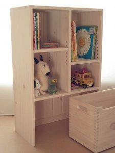 おもちゃ箱付き絵本棚26 オープン時の拡大写真