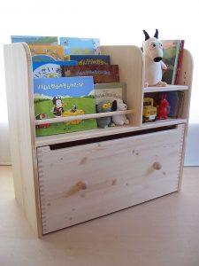 おもちゃ箱付き絵本立て4 使用例の拡大写真