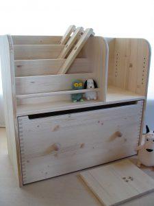 おもちゃ箱付き絵本立て4 商品構成の拡大写真