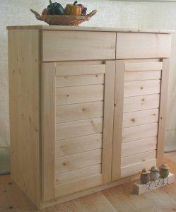 木製キッチンキャビネット クローズ時拡大写真