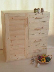 木製キッチンキャビネット 全景拡大写真