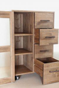 木製キッチンストッカーの拡大写真