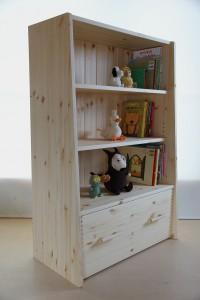 おもちゃ箱付き絵本棚29 おもちゃ箱収納時の拡大写真