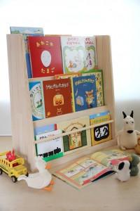 ディスプレイ絵本棚の使用例拡大写真