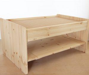 プレイテーブルduo収納棚スタイルの拡大写真