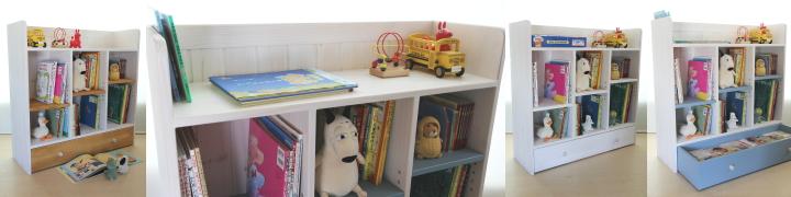 おもちゃ箱付き絵本棚big(EH-003)